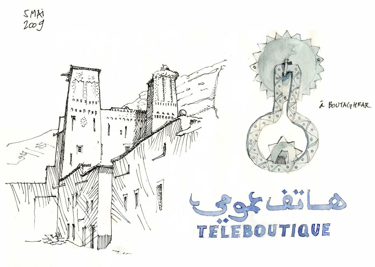 国外手绘建筑城市规划手绘图