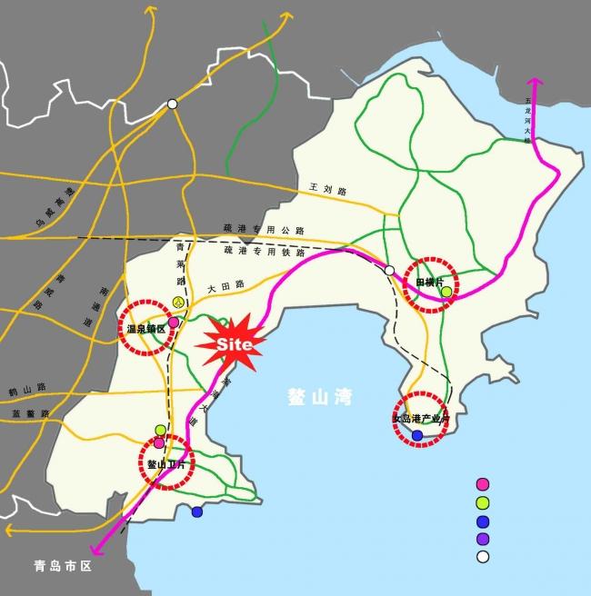胶州湾位于中国山东省山东半岛南部,又称胶澳,有南胶河注入.