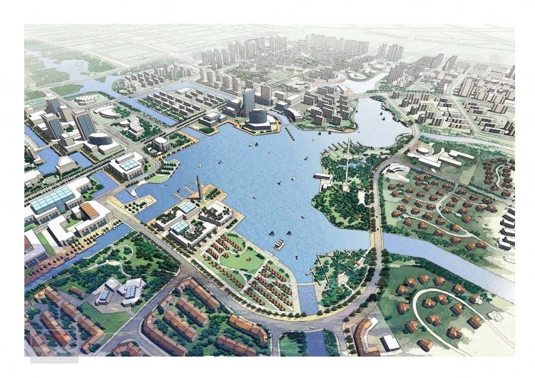 宁波东部新城明湖地区控制性规划