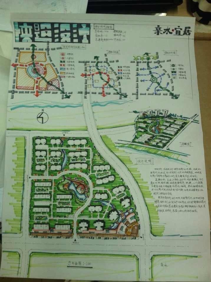 城市小区快题平面设计图图片