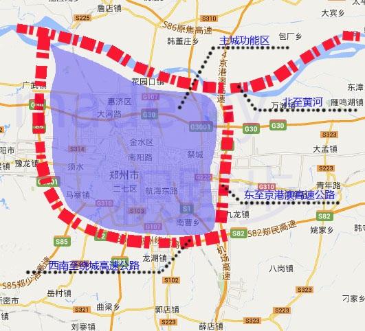 郑州都市区划分八大功能片区