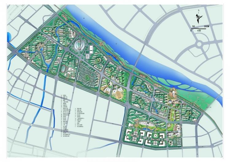 滨水区景观规划平面图