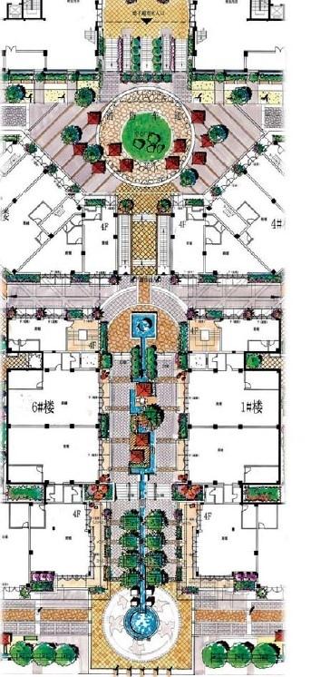入口平面方案手绘 - 总平面图