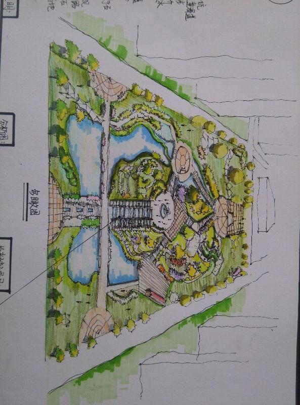 居住区绿地规划!求意见!图片