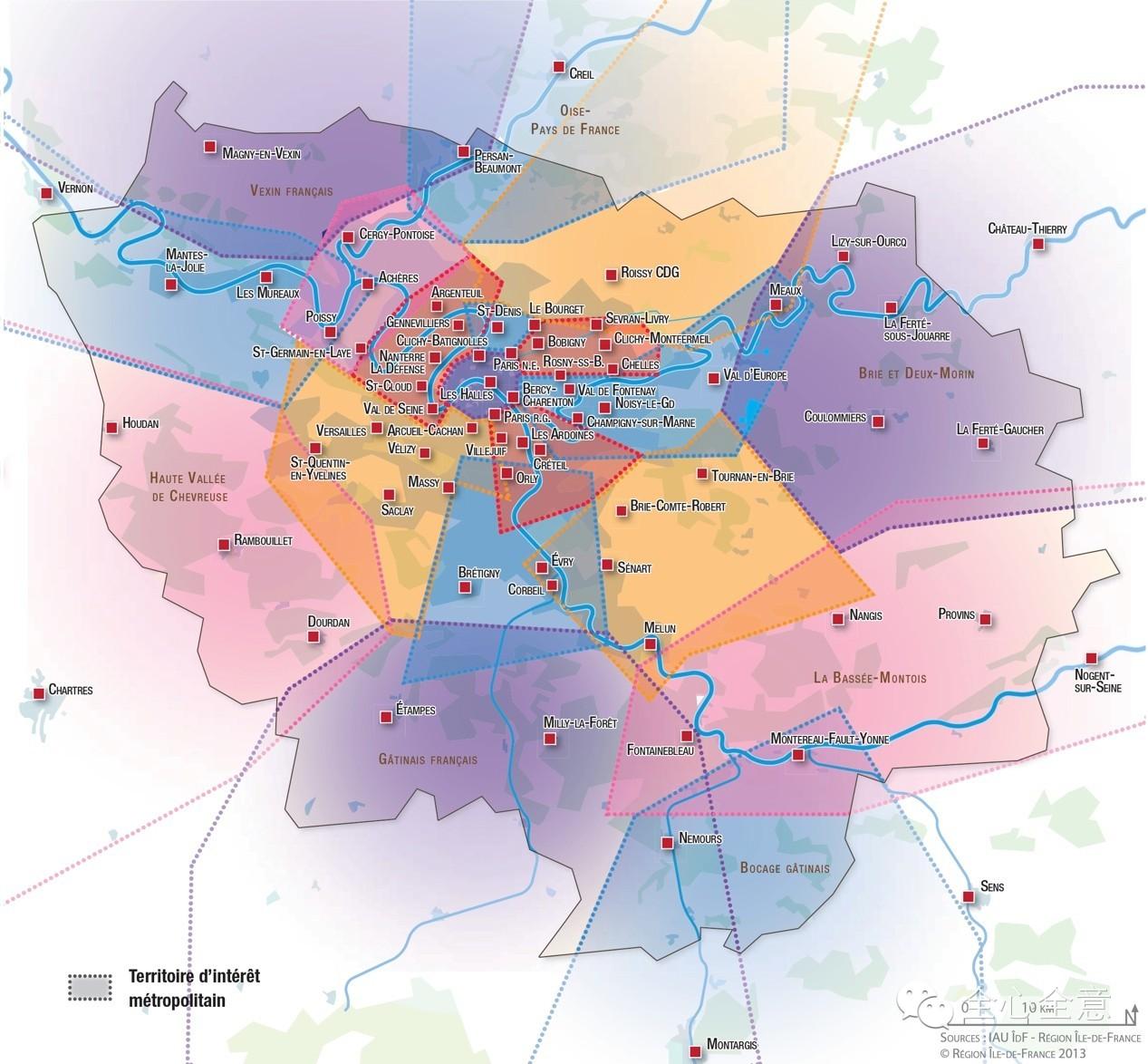 巴黎城市空间结构