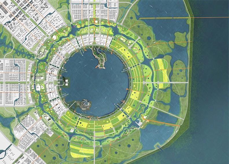 公园设计:临港二环带公园