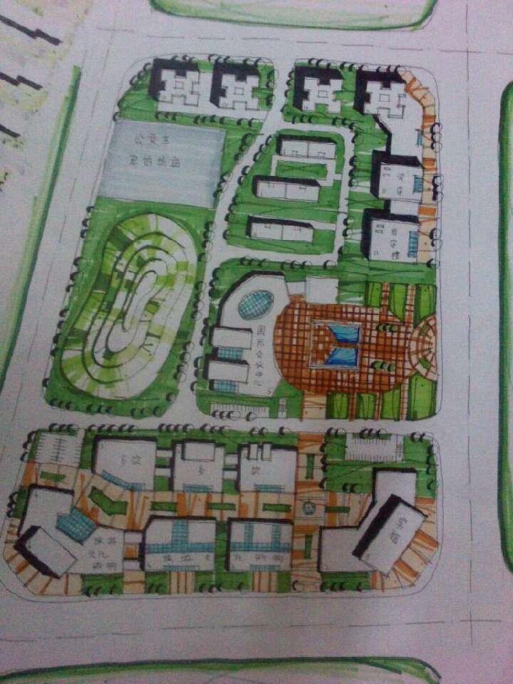 商业广场快题设计图展示