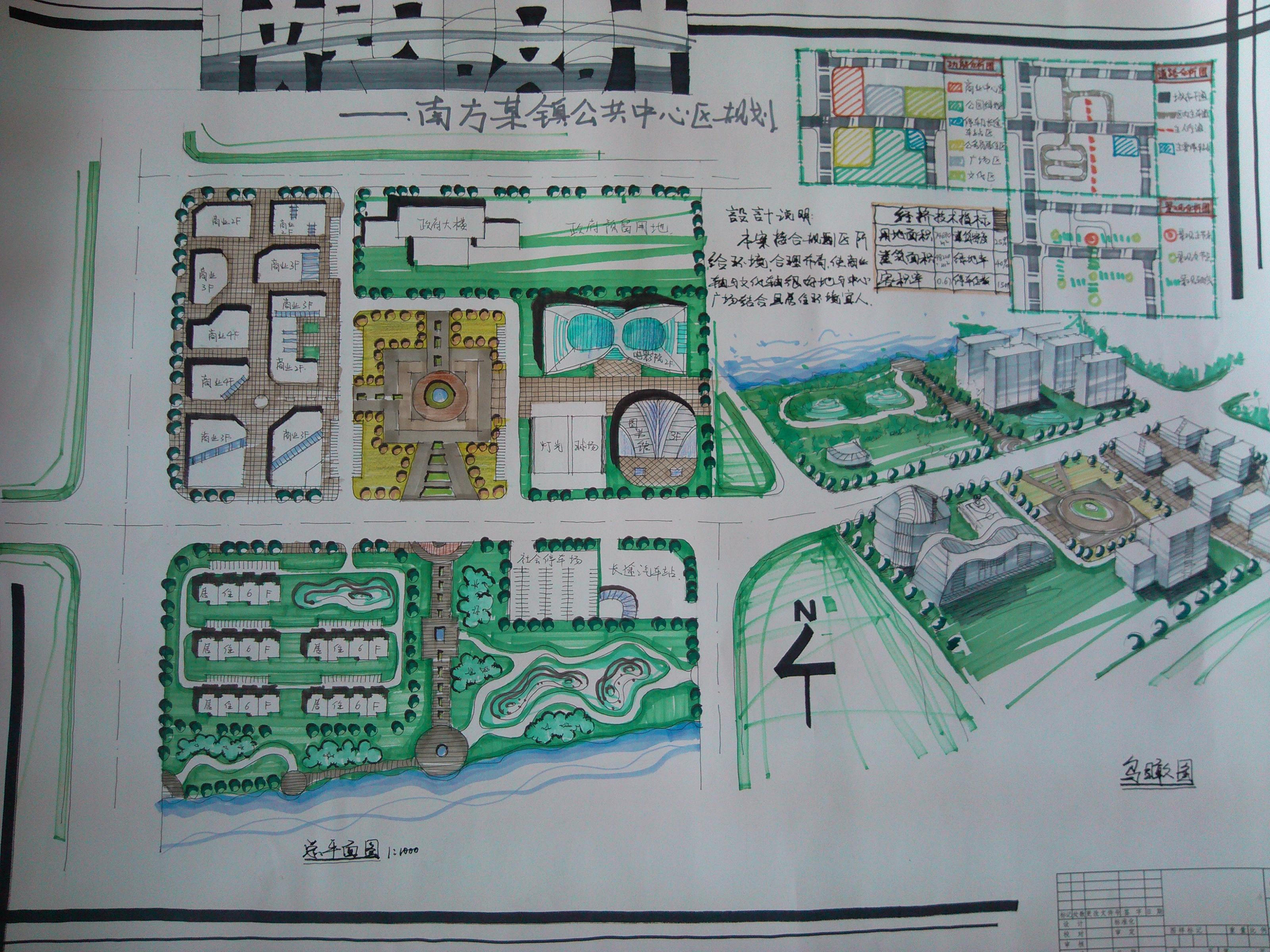 城市广场快题设计图展示