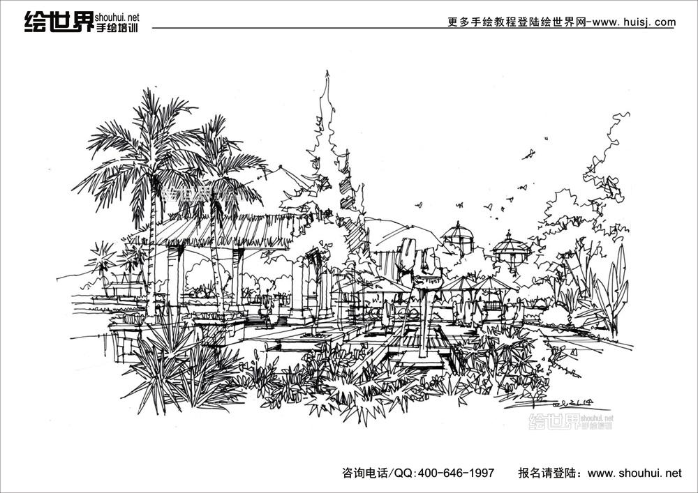 高清-2013绘世界景观手绘线稿--你值得拥有!