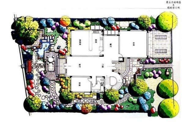 手绘风格总平面图,环境设计值得借鉴