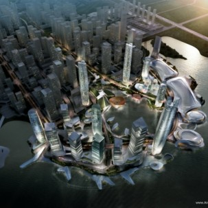 中国,平潭,大陆-台湾CBD总体规划方案/10设计