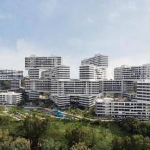 """新加坡""""交错""""公寓大楼——可标记"""