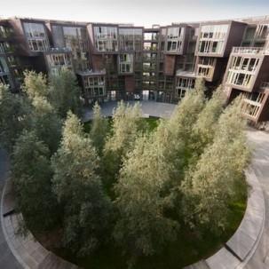 丹麦哥本哈根大学圆形宿舍楼——可标记