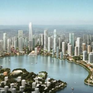 湖南长沙梅溪湖城市设计——可标记