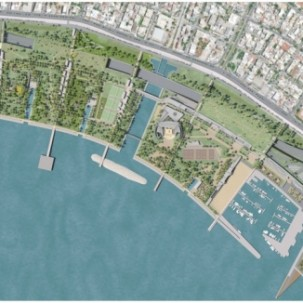 希腊雅典城市滨水公园——可标记