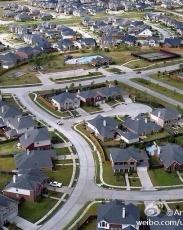 几幅美国不同城市居民区的鸟瞰图