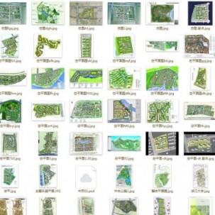 468张居住区规划总平面