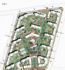 【手绘风格】【居住区】高层为主,景观环境设计可以借鉴