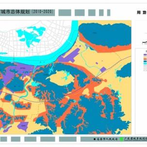 高要总规规划图   优秀城市规划方案