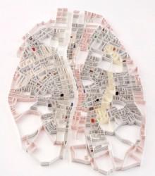 纸雕城市地图:用纸雕做出来的城市地图