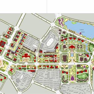 武汉水果湖地区概念规划省级行政中心城市设计——K17