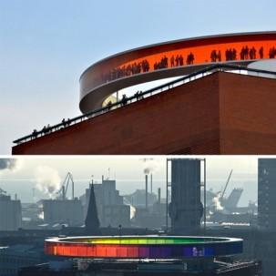 丹麦奥胡斯圆形彩虹空间——可标记