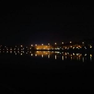 河南省巩义市石河道公园夜景