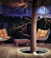 森林中的树屋建筑设计