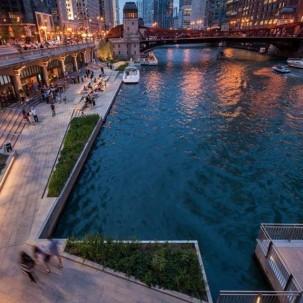 滨水区设计|芝加哥滨河步道设计