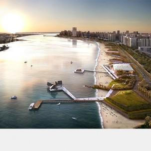 阿布扎比orniche沙滩设计——可标记