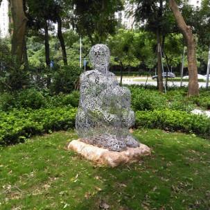 深圳随拍雕塑自行车道