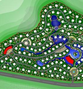某山地地块高档别墅区概念规划