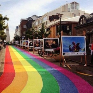 冰岛的彩虹街道,庆典街道