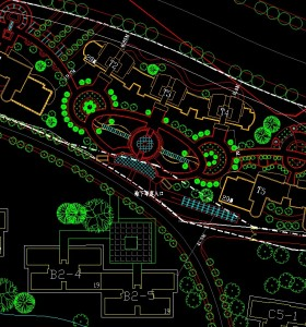 珠江帝景小区滨江路高层住宅规划设计 全套cad+彩图
